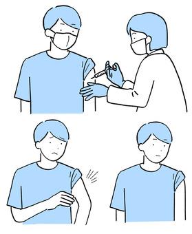 接種疫苗後的不良反應和年輕男性