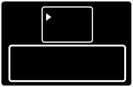 レトロRPGゲーム風 選択画面フレーム