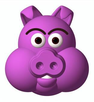 Pig pig _ purple