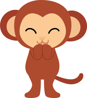Bipedal walking Illustration of a smiling monkey