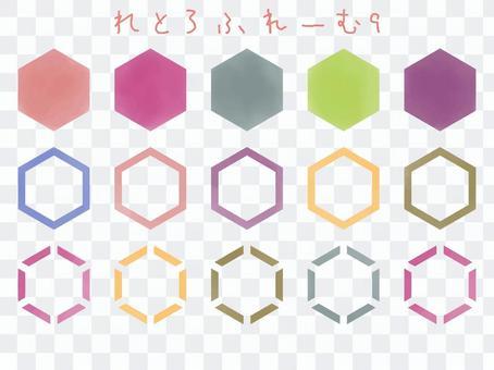 鳥取Furemu 9水彩六角形