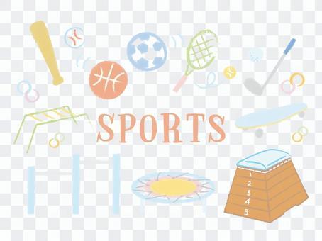 體育體育插畫學校可愛