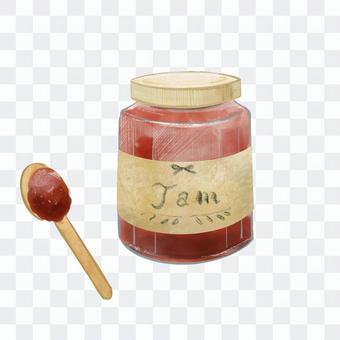 いちごジャム手描き