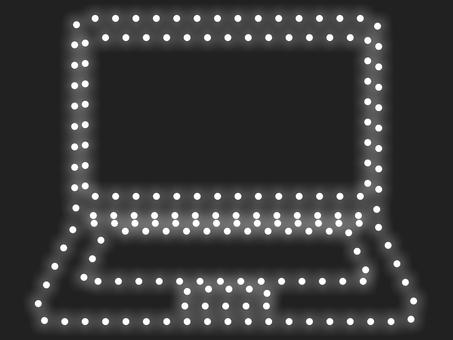 筆記本電腦照明圖標:白色