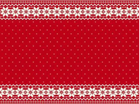 北歐圖案背景素材-紅色
