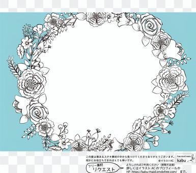 手寫風格花卉插圖時尚卡