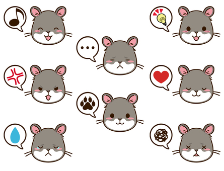 倉鼠(灰色)臉圖標