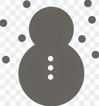 雪人在雪地裡第1部分