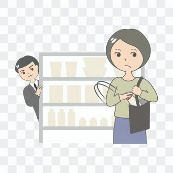 預防犯罪(入店行竊/入店行竊 G-men 的圖像)
