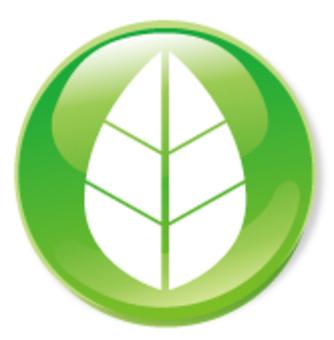 잎 아이콘 - 녹색