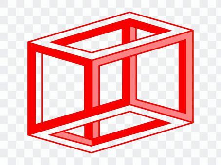 Design ESCHERS CUBE Red