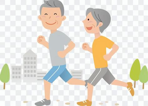70402, senior male, jogging
