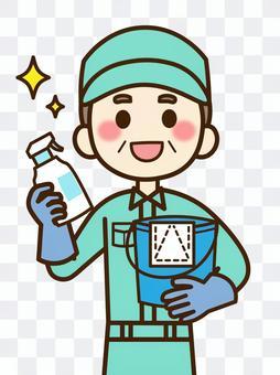 清潔工04,男(中年,老年人)