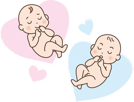 女嬰和男人