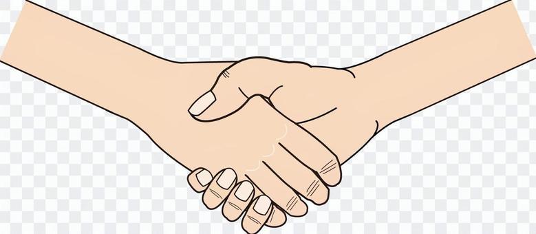Hand series deformed handshake