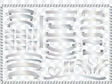 銀色銀皇冠月桂樹框架邊框框架裝飾
