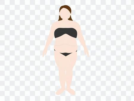 胖女人肥胖