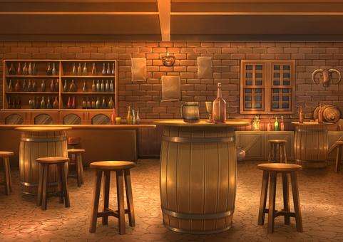 Tavern background illustration 02