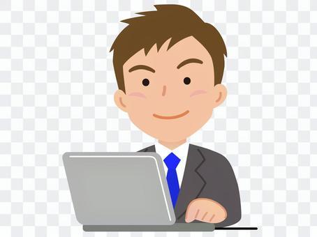 男個人電腦,西裝