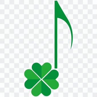Cute clover eighth note