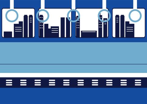 在火車的城市車窗