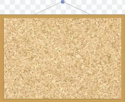 壁掛式軟木板框架(圖釘)