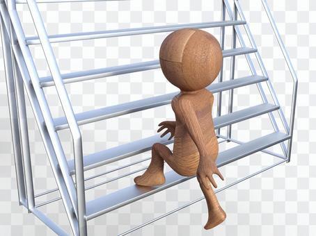 攀登樓梯的成長努力
