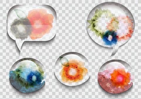 透明玻璃花框
