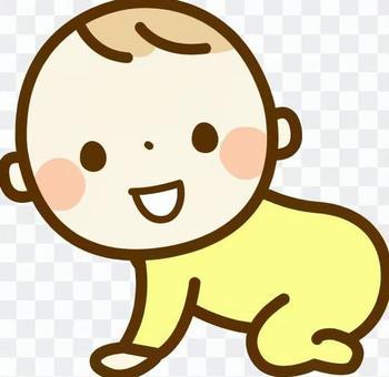 帶著微笑的寶貝