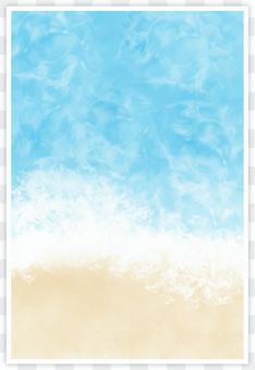 Background image of beach image (vertical)