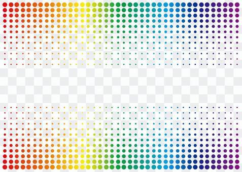 Rainbow color ☆ dot gradation frame ☆ wallpaper