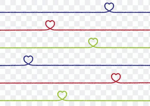 Set 32_05 (hand-painted heart ruled line)