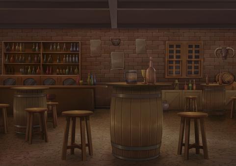 Tavern background illustration 03