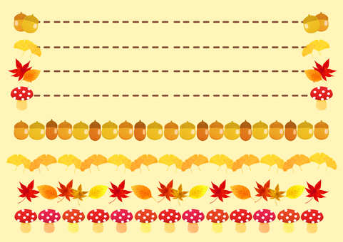 Autumn decoration line set