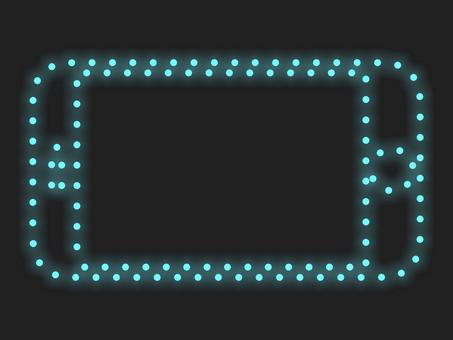 智能手機照明圖標材質:藍色