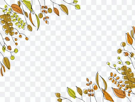 Leaf frame background that can be used in autumn