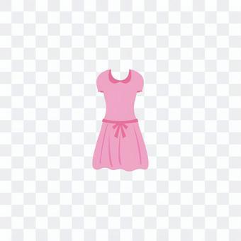粉色連衣裙