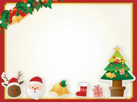圣诞老人和驯鹿装饰框架