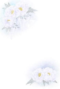 牡丹和紫藤明信片