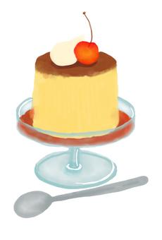 Illustration of pudding