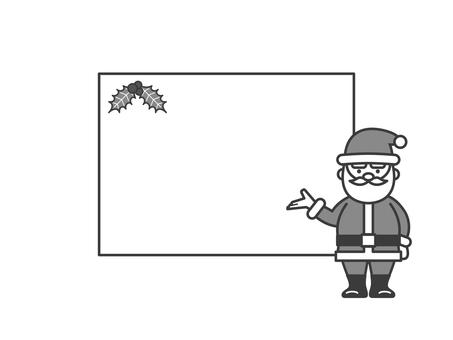 聖誕老人的留言板2(單色)