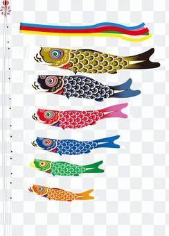 刷系列鯉魚飄帶