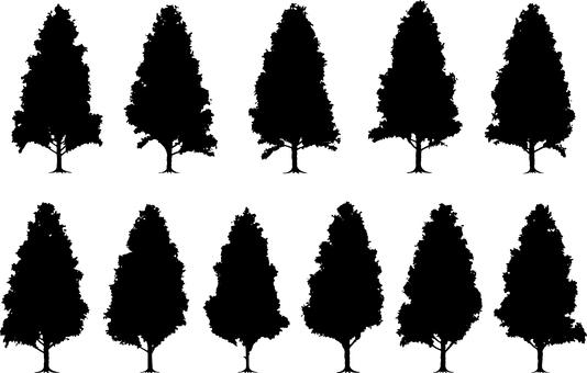 樹剪影硬木套