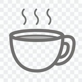 簡單的圖標咖啡