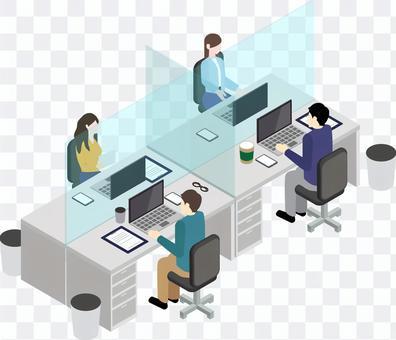 オフィス パーテーション アクリル板