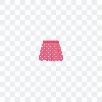 粉紅色圓點裙