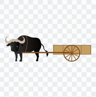 Water buffalo and cart