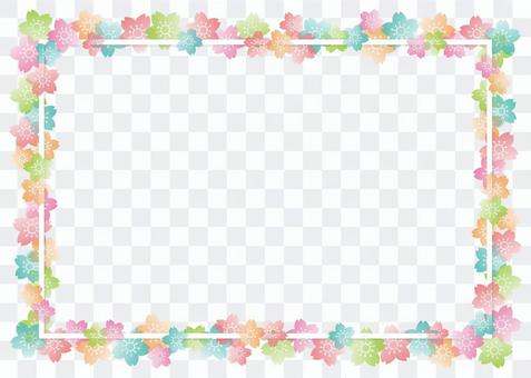桜 background, A4 horizontal, painted enough
