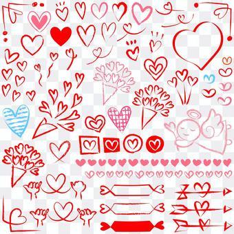 Various heart graffiti