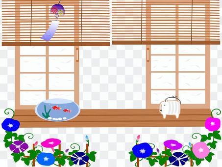Japanese summer side and garden frame